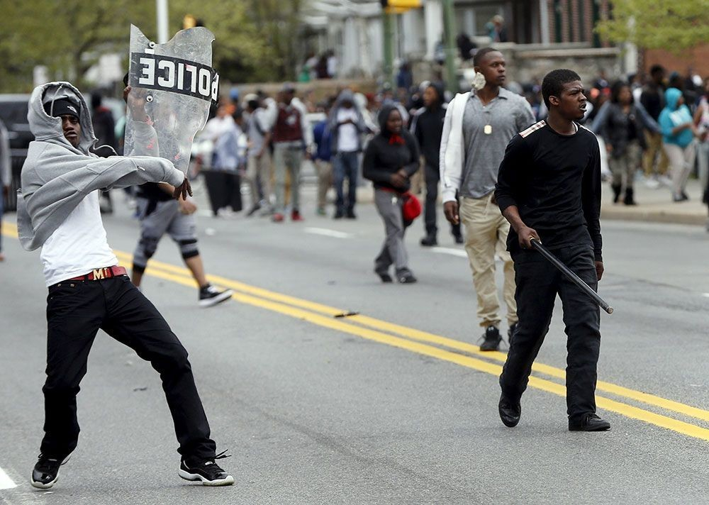 Choques durante la protesta