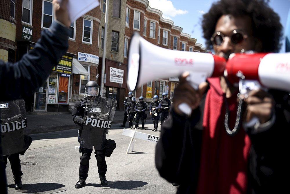 Activistas en Baltimore