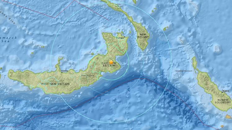 Se registra fuerte sismo en Papúa Nueva Guinea, el segundo en los últimos dos días