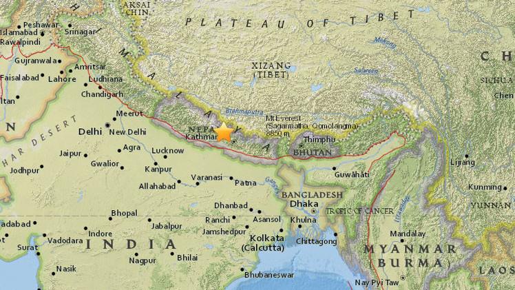 Se registra un sismo de magnitud 5,0 en Nepal