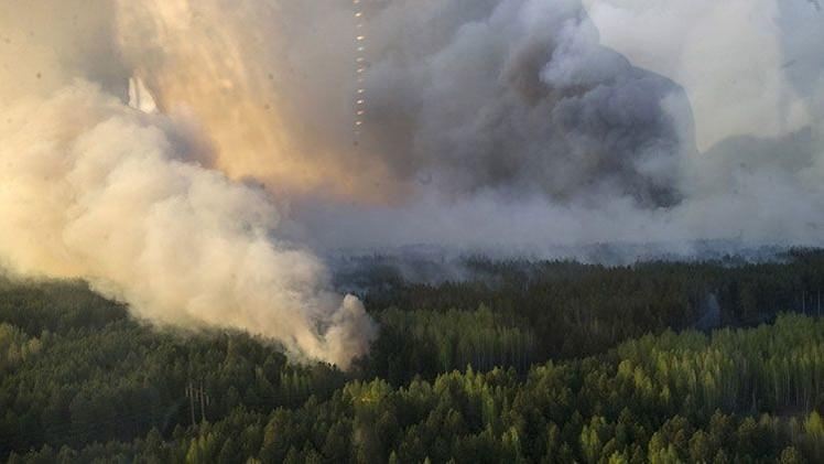Incendio cerca de Cheróbyl