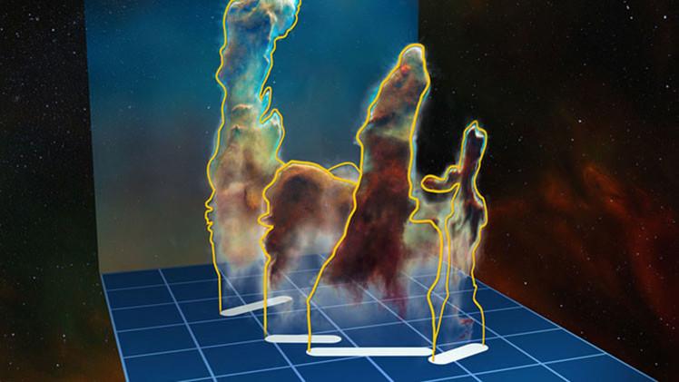 Primera imagen tridimensional revela secretos de los legendarios 'Pilares de la Creación'