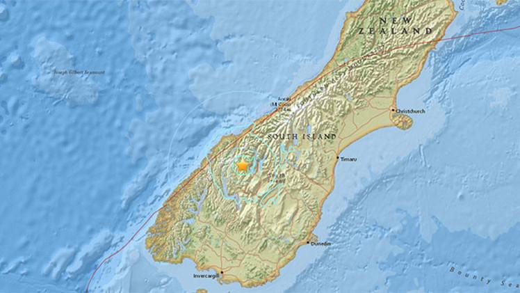 Un sismo de magnitud 5,8 sacude Nueva Zelanda
