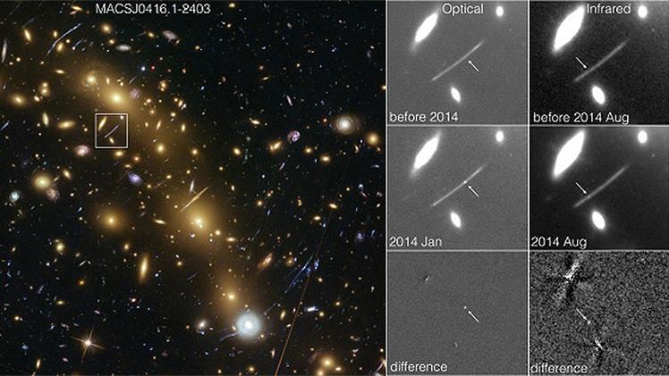 Telescopio Hubble captura en fotos una explosión espacial inexplicable