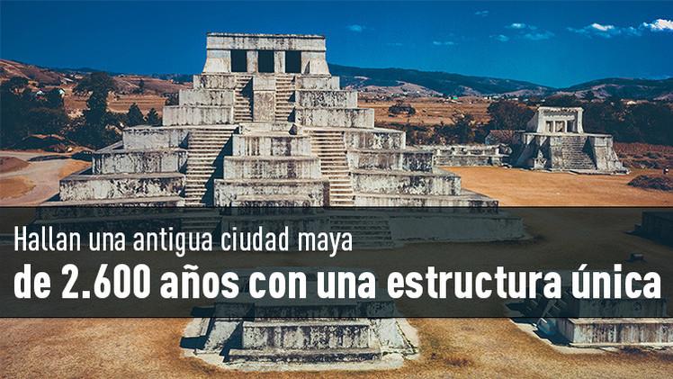 Hallan una antigua ciudad maya de 2.600 años con una estructura única