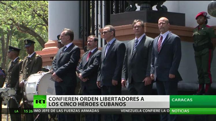 Venezuela confiere la Orden Libertadores a 'Los Cinco' cubanos