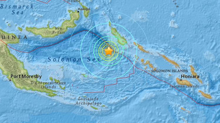 Alerta de tsunami tras un terremoto de magnitud 7,2 en Papúa Nueva Guinea