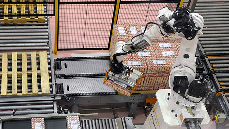 Una fábrica china reemplaza al 90% de los trabajadores por robots
