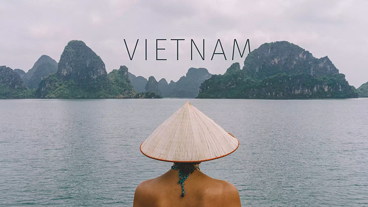 Vietnam de punta a punta en un imperdible video de 3 minutos