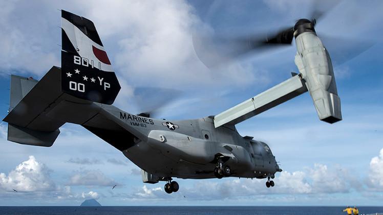 EE.UU. aumentará su presencia en Japón al desplegar 10 convertiplanos cerca de Tokio