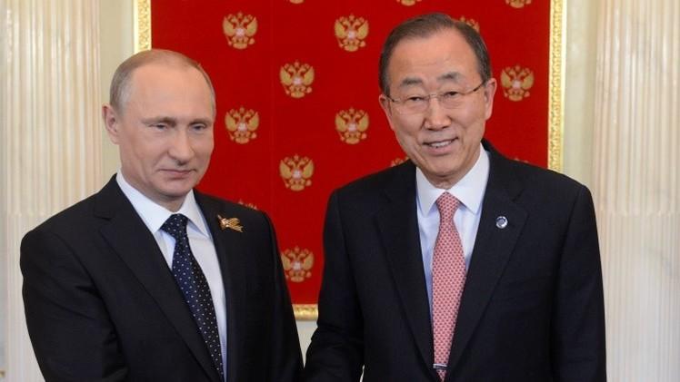 """El secretario general de la ONU a Putin: """"Usted se ha ganado el amor de su pueblo"""""""