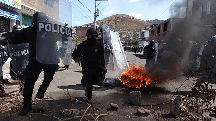 Fotos, video: Decenas de heridos tras ataque de la Policía mexicana contra jornaleros