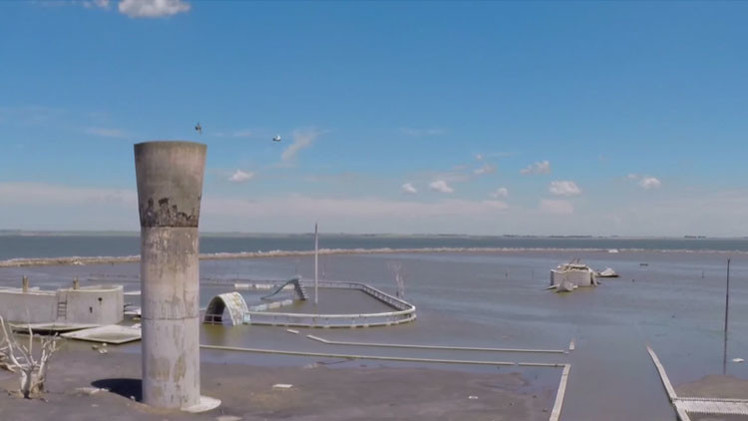 VIDEO: La localidad fantasma más célebre de Argentina a vista de dron