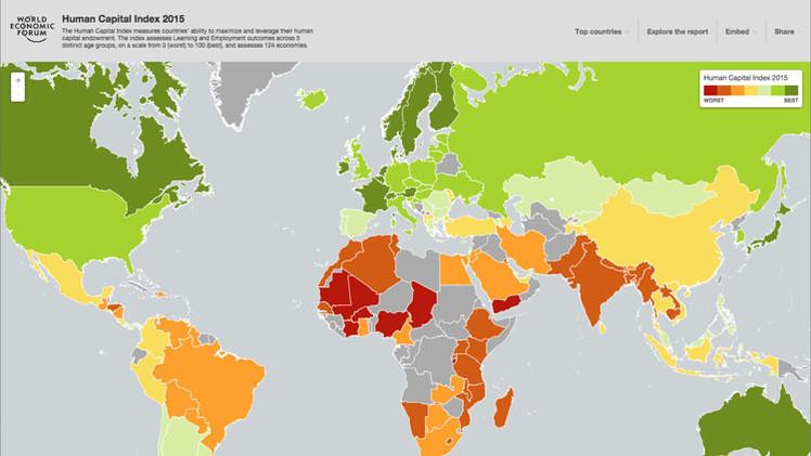 ¿Cuáles son los países con mayor desarrollo de capital humano y de talento?