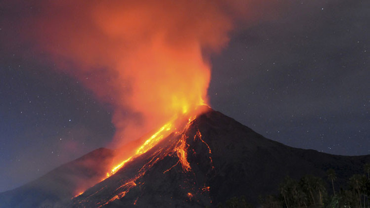 40 volcanes están en erupción ahora mismo