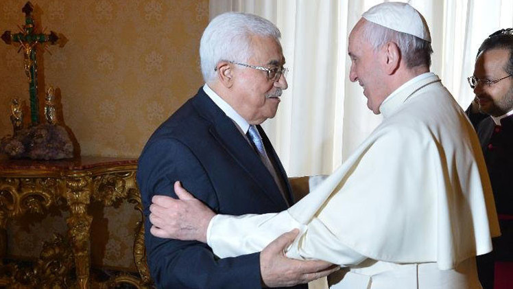 """El papa a Mahmud Abbás: """"Usted es un ángel de la paz"""""""