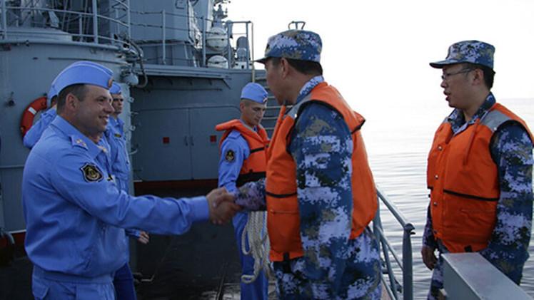 Las Marinas de Rusia y China inician la fase activa de sus ejercicios en el Mediterráneo