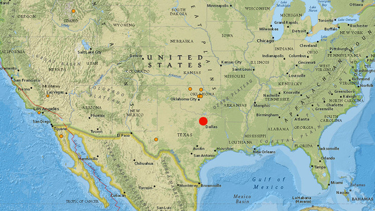 EE.UU.: Se registra un sismo en el estado de Texas