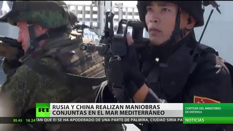 Rusia y China realizan maniobras conjuntas en el mar Mediterráneo