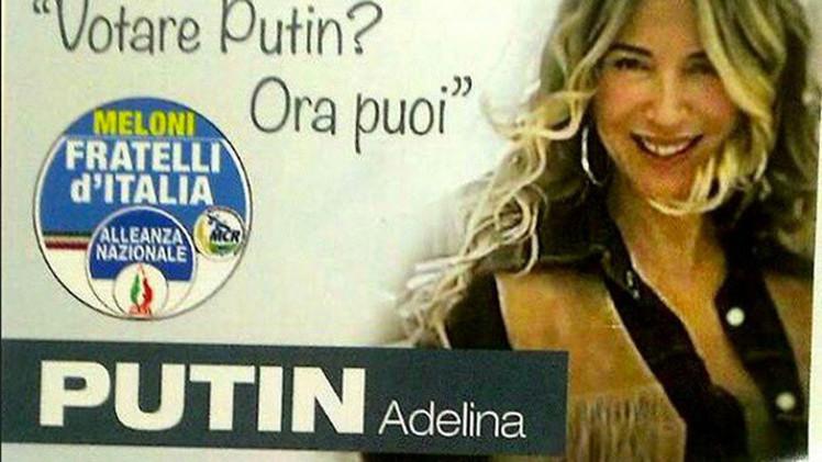 """""""¿Quieres votar por Putin? ¡Ahora puedes!"""": Una tocaya del presidente ruso, candidata en Italia"""