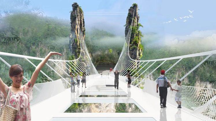 Imágenes: China tendrá la pasarela de vidrio más aterradora en el mundo