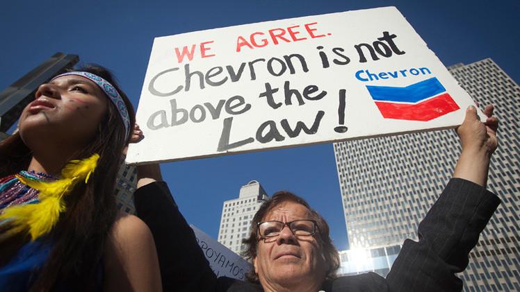 #AntiChevron: Exigen que la petrolera pague por su contaminación en la Amazonia