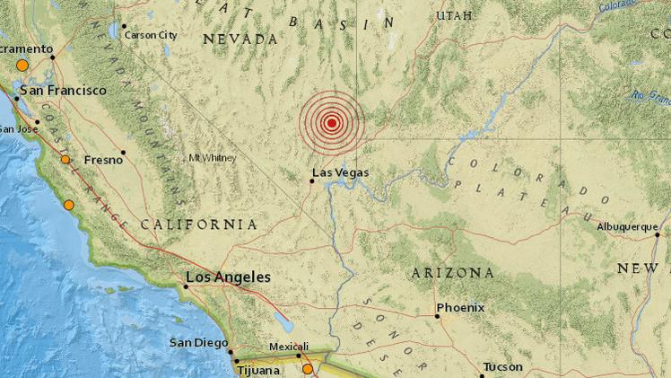Un terremoto de magnitud 5,4 sacude Las Vegas