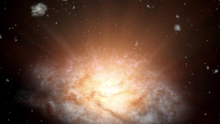 Como 300 billones de soles: Hallan la galaxia más brillante del universo