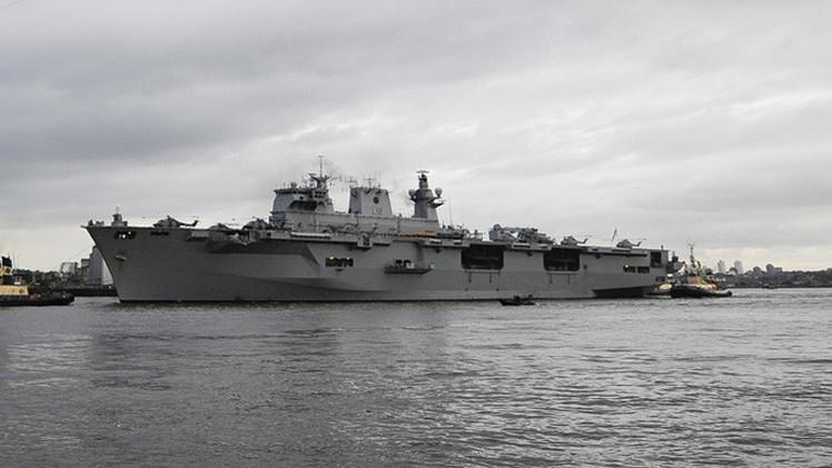 Londres envía su mayor buque de guerra para los ejercicios de la OTAN en la frontera rusa