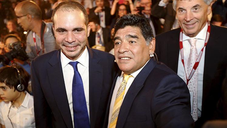 Conozca al príncipe Alí bin al Hussein, que busca presidir la FIFA apoyado por Maradona