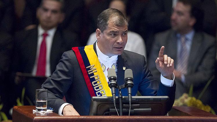 """Rafael Correa: """"El escándalo de la FIFA es una vergüenza para Latinoamérica"""""""