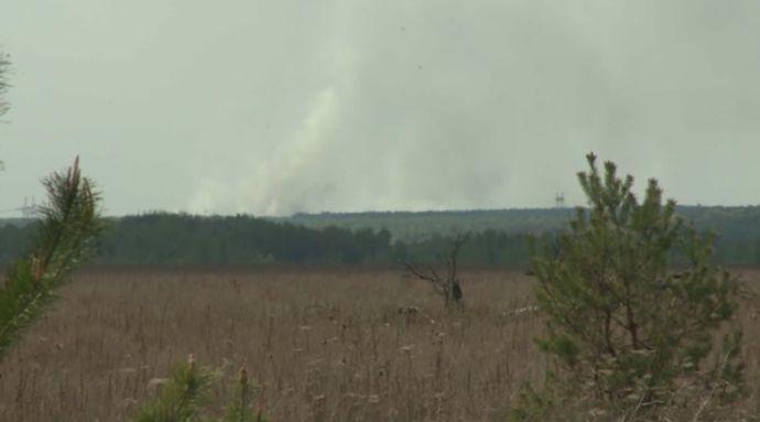 Incendio cerca de Chernóbyl