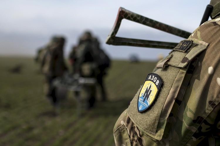 El batallón de voluntarios Azov de la Guardia Nacional ucraniana