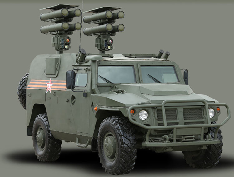 Ministerio de Defensa de Rusia / Complejo móvil de misiles antitanque  Kornet-E
