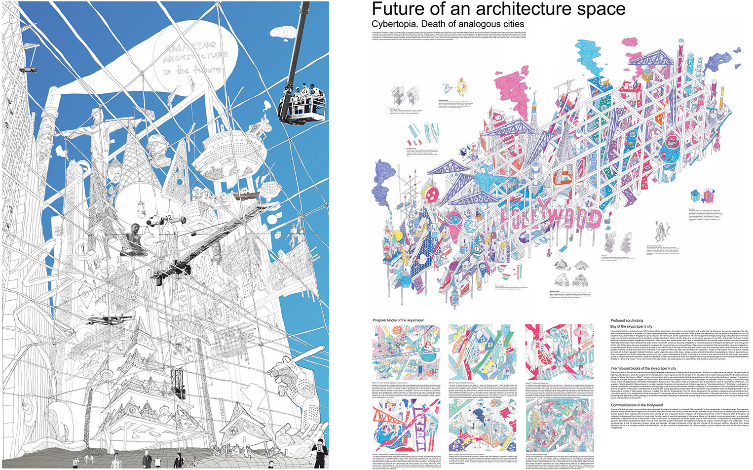 """Cybertopia: Future of an Architecture Space, Death of Analogous Cities"" / Egor Orlov"