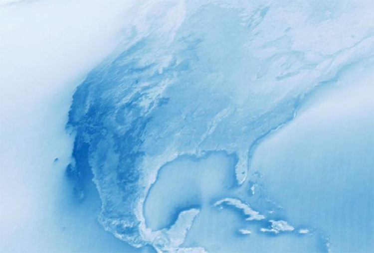 Mapa: Las áreas más nubosas y más secas del planeta