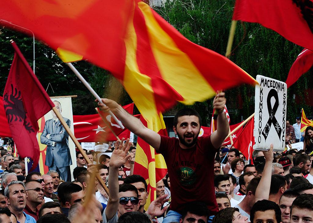 VIDEO: La oposición se manifiesta en la capital de Macedonia, Skopie