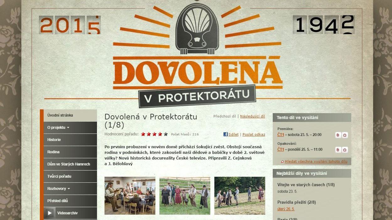 Vacaciones en el protectorado en la televisión checa