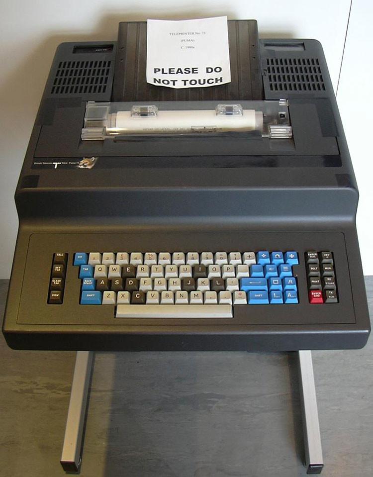 Una máquina de télex