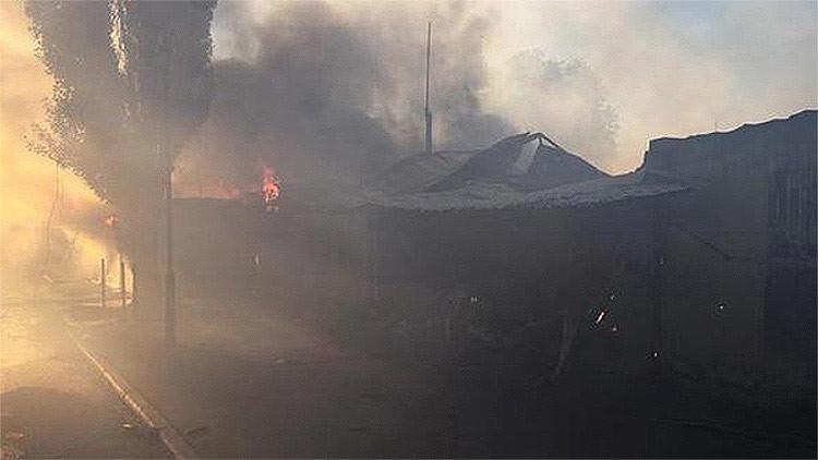 Video, Foto: El mercado de Donetsk es alcanzado por nuevos ataques ucranianos