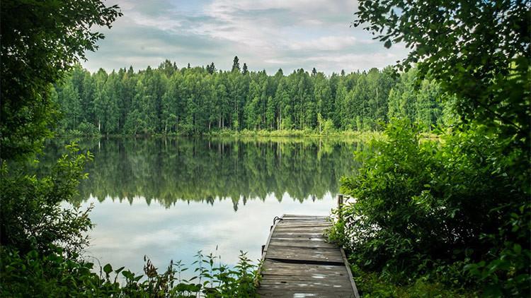 Las extrañas islas que se desplazan sobre un lago ruso: ¿A qué se debe este fenómeno?