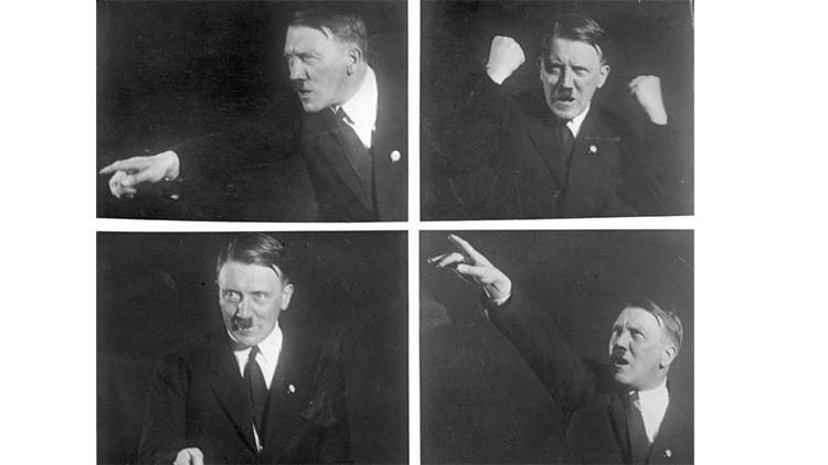 Hitler posa para la cámara.