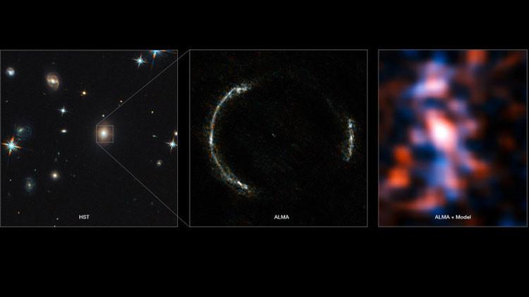 Captan imágenes detalladas de una galaxia enorme al borde del universo