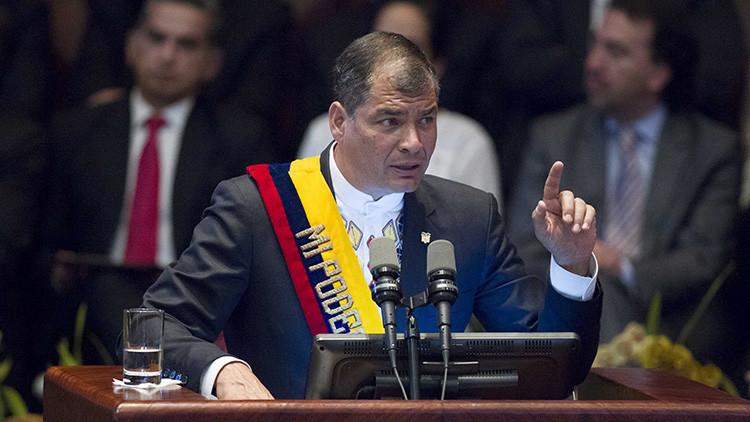 """Rafael Correa: """"El proteccionismo fue la estrategia con la que se desarrolló la industria europea"""""""