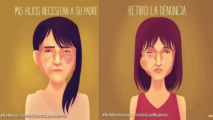 Viral en la Red: Artistas crean una conmovedora campaña contra la violencia de género