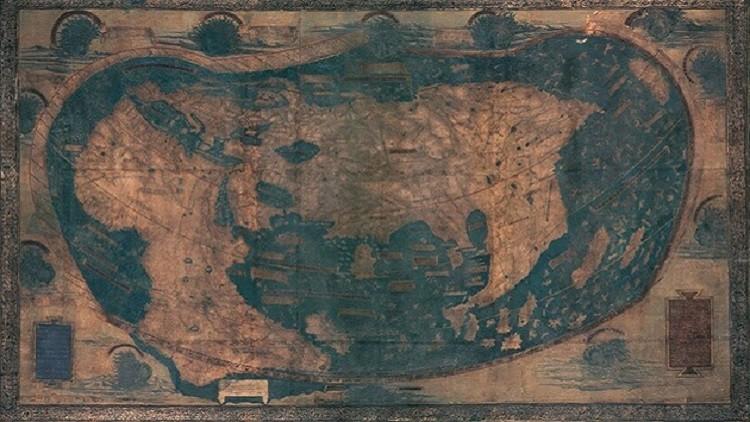 Descifran las inscripciones ocultas del mapa medieval que inspiró a Colón