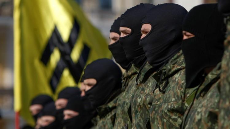 Los combatientes del batallón paramilitar Azov
