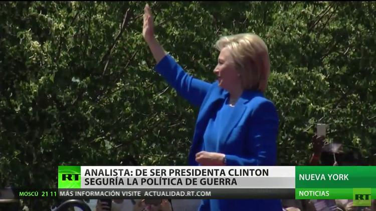 """""""Es muy probable que Hillary Clinton siga la actual política belicista de EE.UU."""""""