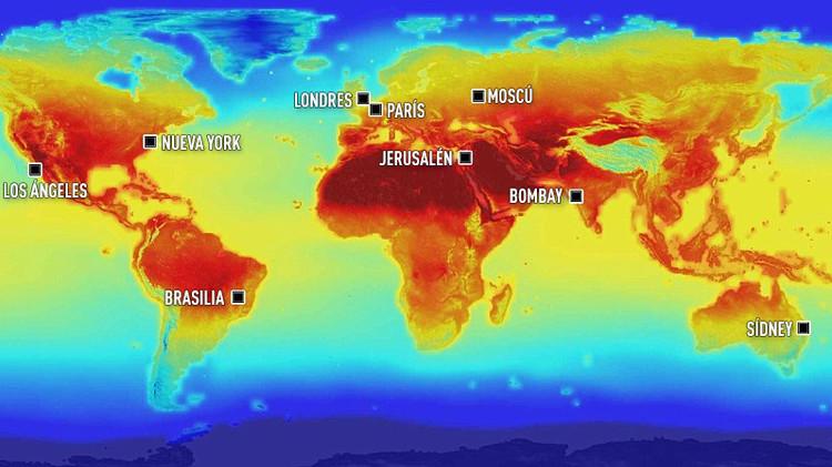 Mapa de la NASA: Catastróficas consecuencias en el mundo por el cambio climático