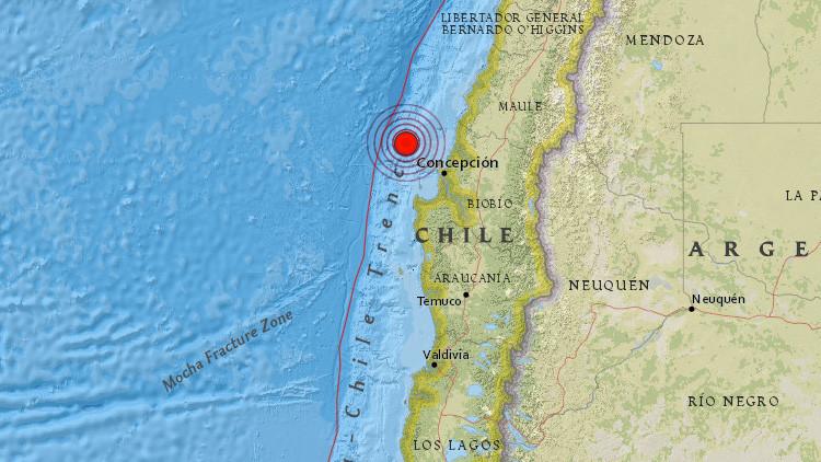 Un sismo de magnitud 6,4 se registra en el centro de Chile